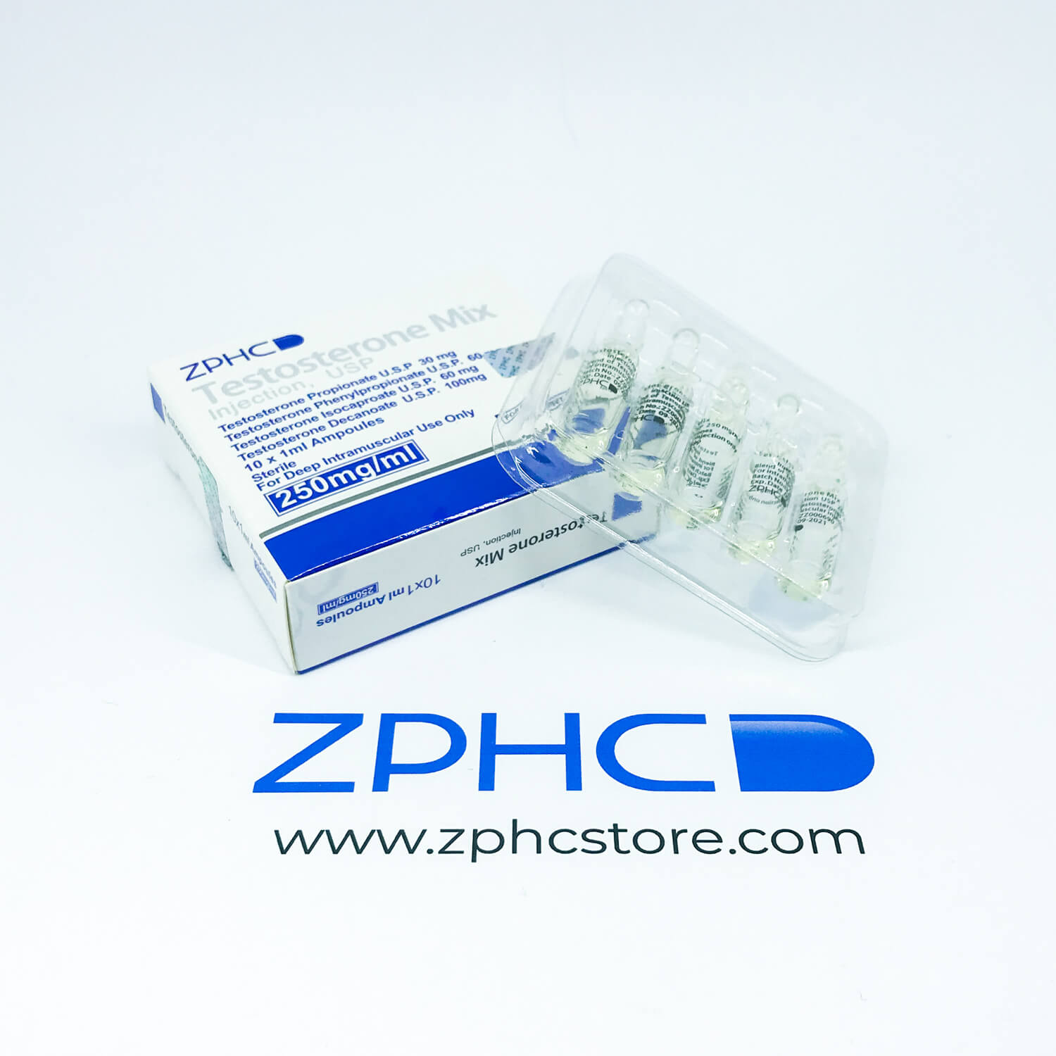 Testosterone Mix 250mg/ml amps ZPHC